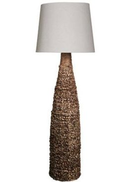 """SKU # SC L71997    Water Hyacinth Spun Bamboo   Floor Lamp  65"""" Height    $379  Available From Dyer Electrical Company"""