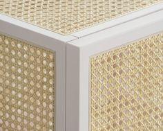 Grand (rattan) cabinets by Mathieu Gustafsson and Niklas Karlsson