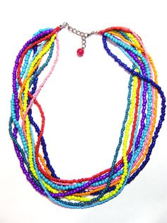 Multi Strand Seed Bead Necklace by HippieThings, $20.00