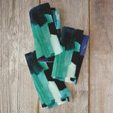 """Waiting - Textile"" - Napkins in Teal by Amelia Allen."