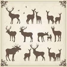 Картинки по запросу female deer silhouette