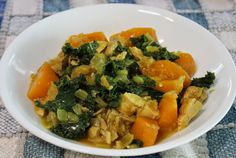 paleo chicken stew with butternut squash and kale