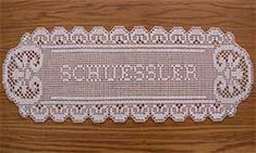 Filet Crochet Names - Saferbrowser Yahoo Image Search Results Filet Crochet Name Pattern, Crochet Letters Pattern, Crochet Alphabet, Crochet Quilt, Crochet Doily Patterns, Thread Crochet, Crochet Designs, Crochet Doilies, Crochet Hooks