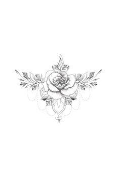 Tattoo flower neck butterflies Ideas for 2019 Dainty Tattoos, Rose Tattoos, Sexy Tattoos, Flower Tattoos, Body Art Tattoos, Small Tattoos, Sleeve Tattoos, Floral Thigh Tattoos, Tatoos