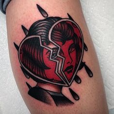 Tattoo old school heart american traditional Ideas Tattoo Life, Neotraditionelles Tattoo, Body Art Tattoos, New Tattoos, Tattoos For Guys, Sleeve Tattoos, Tattoos For Women, Cool Tattoos, Grunge Tattoo