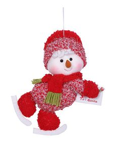 Loving this Skating Snowman Letter To Santa Ornament on #zulily! #zulilyfinds