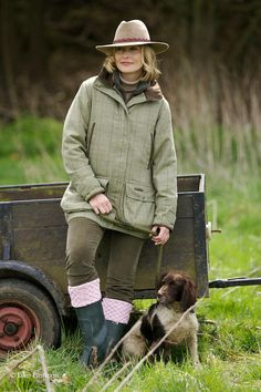 The English Lady Farmer ~ And Her Dog.