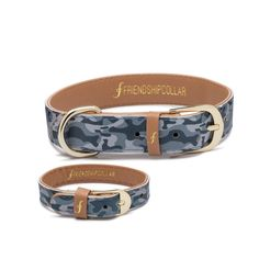 """""""Ready, Aim, Fetch! For the dog that leaves no stick behind"""" Matching in grey camo, theperfect way to show off your friendship.  A collar for your pet and a matching bracelet just for you,because best friends should match!"""