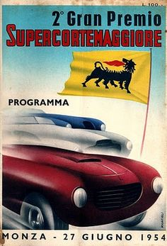 Monza Programme Cover, 1954