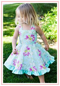 Twirly Dress Sewing Pattern $6