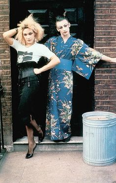 Boy George and Marilyn squatting, 1978