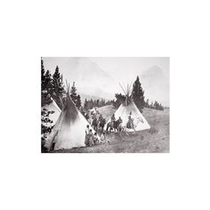 Art.com Native American Teepee Camp, Montana, C.1900 (B/W Photo)... ($60) ❤ liked on Polyvore featuring home, home decor, wall art, athletes, athletes by sport, baseball players, baseball players by name, celebrities by talent, entertainment and i