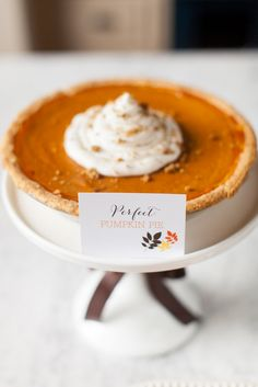 Perfect Pumpkin Pie Recipe + Free Printable Food Labels :: The TomKat Studio for HGTV