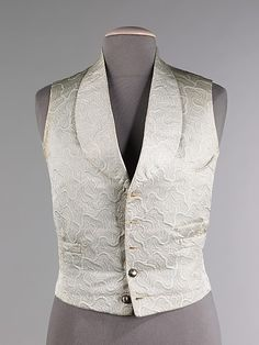Vest, Evening  Date: 1855–60 Culture: French (probably) Medium: silk