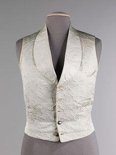 Vest, Evening  Date: 1855–60 Culture: French (probably) Medium: silk civil war era fashion