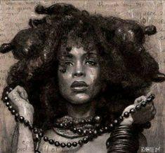 all naturale African American Artist, African Art, African Women, Art Afro, Street Art, Natural Hair Art, Black Artwork, Portraits, Black Women Art