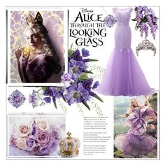 """""""Alice Through The Looking Glass"""" by smallbeautymonsters ❤ liked on Polyvore featuring LSA International, Villari, princess, violet, contestentry and DisneyAlice"""