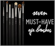 7 MAC Eye Brushes You Must-Have for Eye Makeup - I'm probably picking up the 219 and 239 next. PS. I love the 217 too; great blending brush!