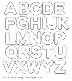 Alfabeto Maiuscolo per feltro