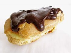 Chocolate éclairs and cream puffs – step-by-step photos and easy directions.