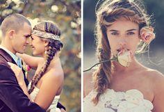 11- Tamiz Photography/Opihi Love/Ry-n Shimabuku Makeup Artistry via Ruffled; 12- Grace Loves Lace/Megan Ziems/James Frost | Boho Hair Inspiration #wedding #boho