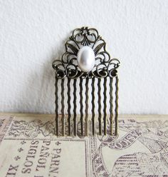 Pearl Hair Comb Wedding Bridal Hair Comb The Great by Jewelsalem, $12.00