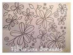 Fb|Mariana Bordados Embroidery Hoop Crafts, Floral Embroidery Patterns, Mexican Embroidery, Embroidery Works, Hand Embroidery Patterns, Embroidery Stitches, Sewing Appliques, Mosaic Projects, Embroidery Techniques