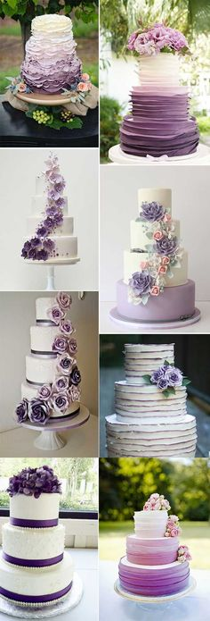 2018 BRIDES FAVORITE WEEDING COLOR: STYLISH SHADE OF PURPLE - Wedding Invites Paper  shade of purple wedding cakes/ modern wedding cakes/ elegant wedding cake toppers/ fall wedding cakes #modernweddingcakes