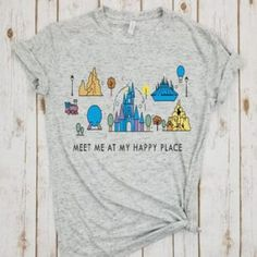 Cartoon Tshirt Happy Place Shirt Animal Kingdom Tee Plus Size Print Tees Cartoon Tops Summer Fashion Top Harajuku Women's Summer Fashion, Fashion Top, Woman Fashion, Mens Fashion, Funny Prints, Collars For Women, Disney Outfits, Disney Clothes, Shirt Price