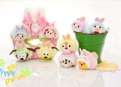 New Easter Tsum Tsums were announced last weekat Disney Stores in Japan. The new Tsum Tsum releasewill including Donald, Daisy, Pooh, Chip and Dale all dressed at bunny rabbits. Joining theDonald, Daisy, Pooh, Chip and Dale Tsum Tsums will be an Easter Tsum Tsum set that includes Mickey, Minnie,
