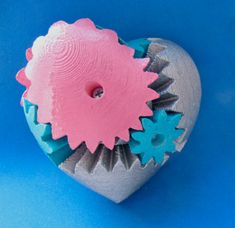 3d printed heart #3dPrintedColor