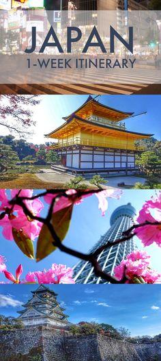 The Ultimate Japan one week Itinerary. See Tokyo, Osaka, Nara, Kyoto, Hiroshima, and Hakone in 7 Days with this perfect travel guide and itinerary.