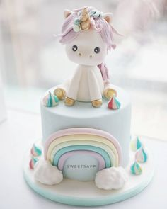 Advertisement This post was created in cooperation with Coppenrath Wiese Photo Reklame Dieser Post ist in Kooperation mit Coppenrath Wiese entstanden Foto Advertisement. Baby Cakes, Beautiful Cakes, Amazing Cakes, Fondant Cakes, Cupcake Cakes, Unicorn Foods, Unicorn Cakes, Pony Cake, Savoury Cake