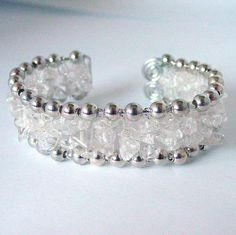 Quartz Crystal Cuff Bracelet by Pookledo on Etsy, £20.00