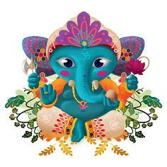 Lord Ganesha by Diozen Racine... child, illustration, boy, ganesh