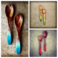 Salad Servers in Acacia by oMEandoMY on Etsy, $22.00