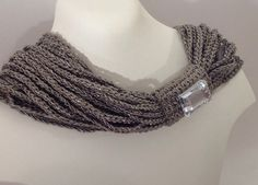 Necklace multi rows made of beautiful Nude Cotton by ByMima, €99.00