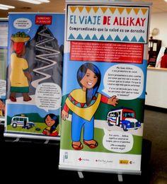 """Exposición """"El viaje de Allikay"""" en la BICC (2013) #exposiciones #salud #biblioteca #uex"""