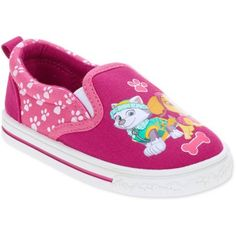 Paw Patrol Toddler Girls' Slip On Casual Canvas Shoe, Toddler Girl's, Size: 7, Pink