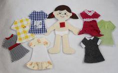 Felt Paper Dolls - Peek-a-Boo Pattern Shop