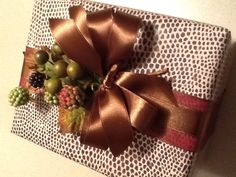 Autumnal gift wrapping.