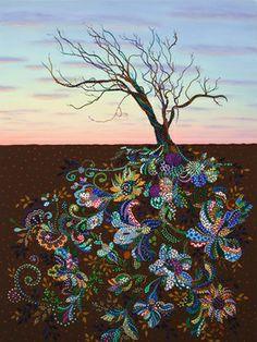 "Saatchi Art Artist Erika Pochybova-Johnson. Painting, ""The Journey"""