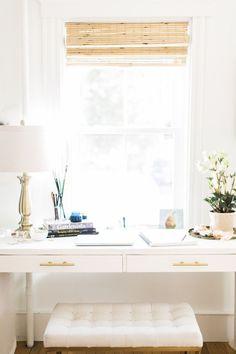 white Ikea office desk