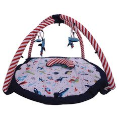 Playmat/Baby Activity Gym with Mat, Airspace, Aqua/Red/Orange/Green/Navy