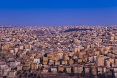 The sprawling white city of Amman