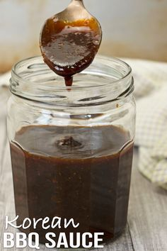 With less ingredients and cooking time, this Korean BBQ sauce is just perfect to use for your grilled chicken, meat, fish or as a condiment. Asian Bbq Sauce, Easy Bbq Sauce, Barbeque Sauce, Bbq Sauces, Spicy Sauce, Bbq Grill, Korean Bbq Meatballs, Korean Barbeque, Easy Asian Recipes