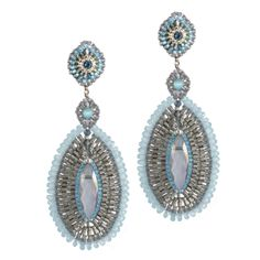 Miguel Ases Crystal Earrings - SilveradoVermont
