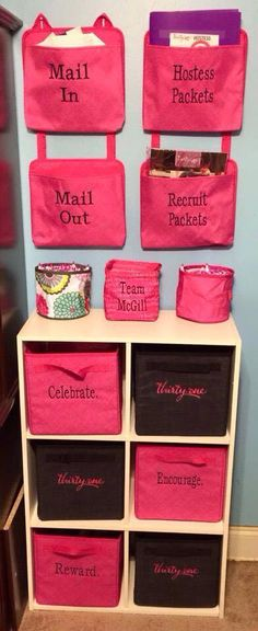 Have a small space for your home office? Make it FAB and Functional with Thirty One Oh Snap Pockets, Bins, and Your Way Cubes! www.mythirtyone.com/69782
