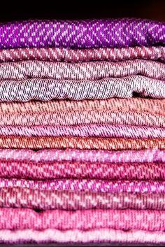 Francesca Bonato's accessories line, Hacienda Montaecristo a stack of antique rebozos