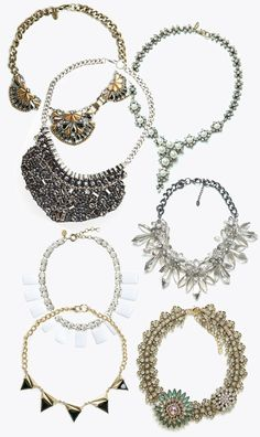Hot or Not: Big necklaces Big Necklaces, Hoop Earrings, Hot, Jewelry, Jewellery Making, Jewels, Jewlery, Jewerly, Jewelery